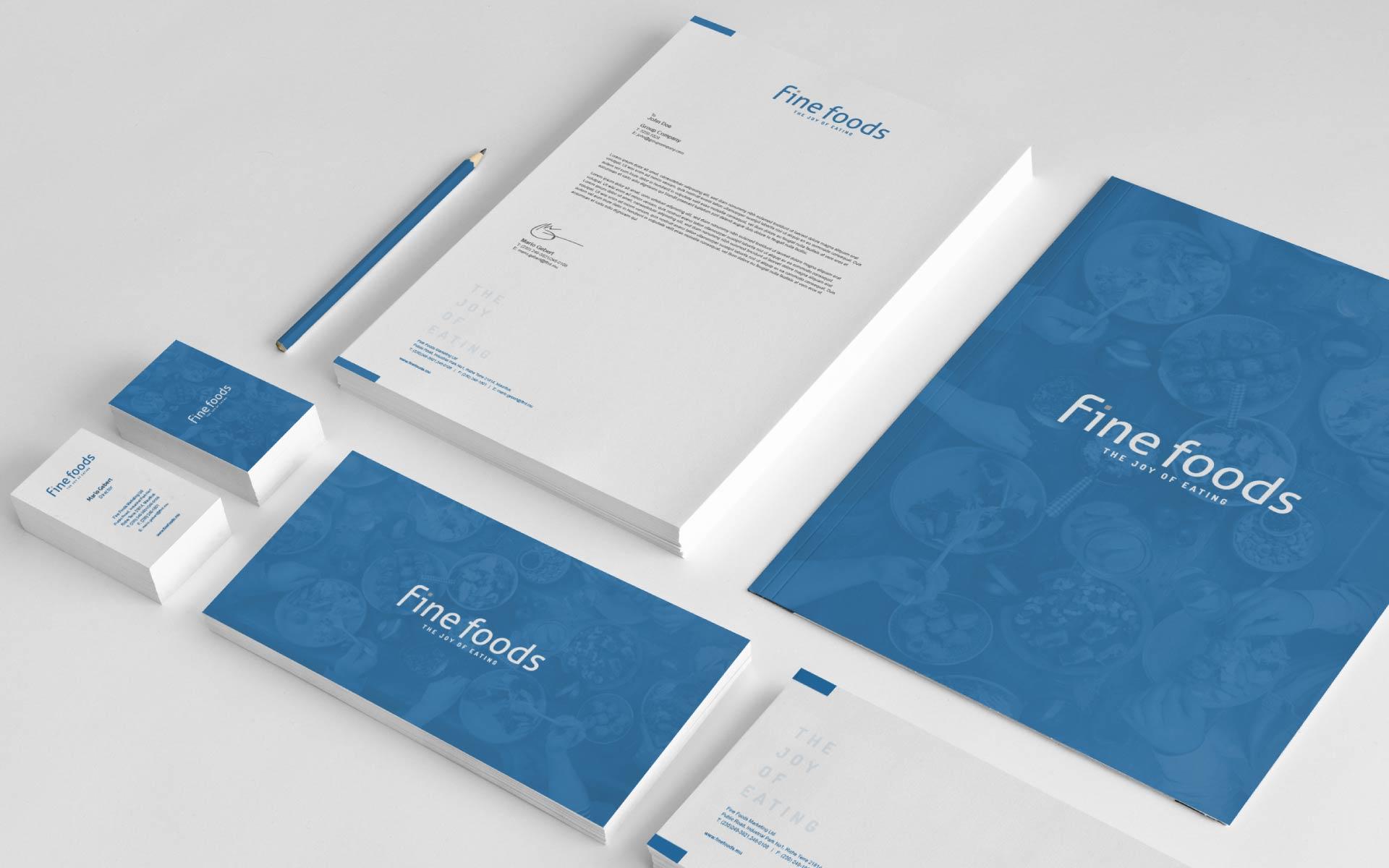 company rebrand stationery